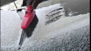 Правильное использование снеговой щётки