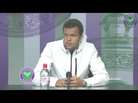 Jo-Wilfried Tsonga fourth round press conference