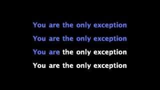 Paramore- The Only Exception Karaoke Version