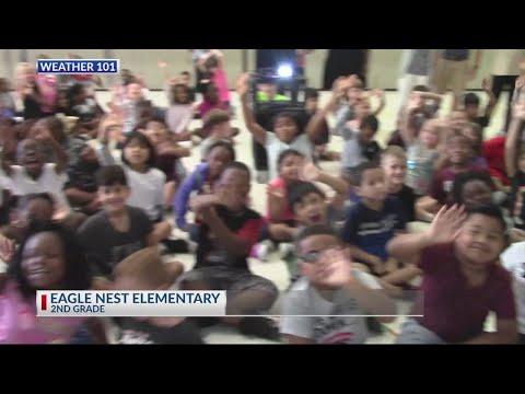 Rob Fowler visits Eagle Nest Elementary School for Weather 101