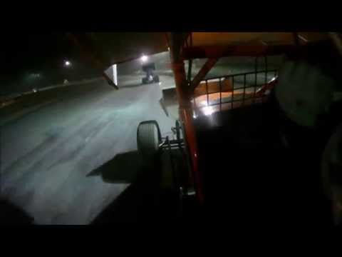 Dan Douville #7x In-Car | Sprint Cars of New England at Bear Ridge Speedway 9-20-2014