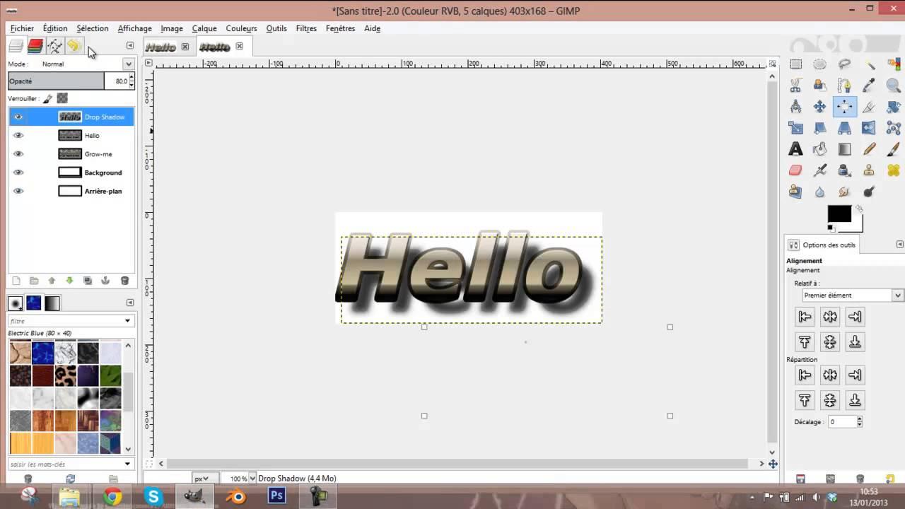 creer un logo 3d avec gimp
