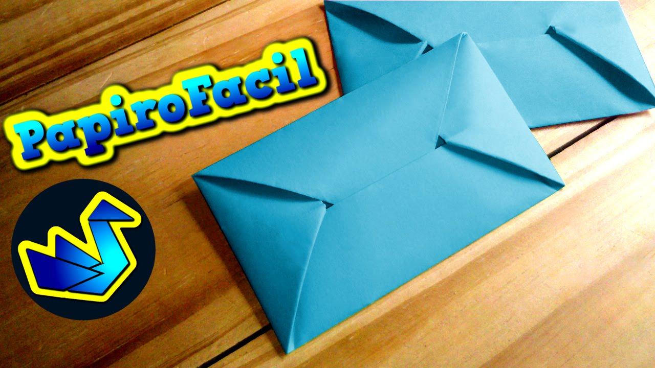 Origami facil || Como hacer un sobre para cartas - YouTube