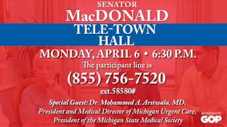 Join Sen. MacDonald for a Tele-Town Hall on April 6