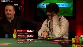 Three POKER hands with an EXCITING runout!!