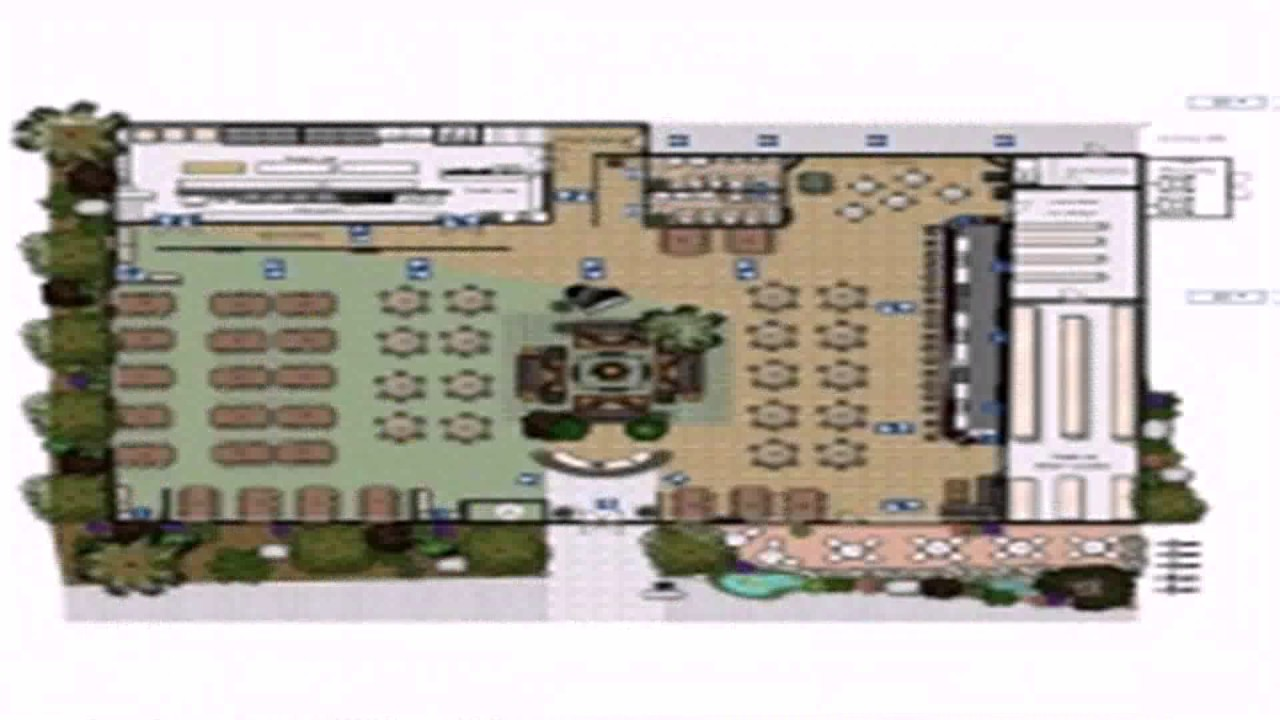 Restaurant layout floor plan samples youtube