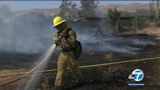 Thank you. Photo tribute to firefighters battling California's wildfires I ABC7