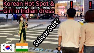 [Sub ENG] (ep2) Korean hottest place & Korean girl wearing Indian dress