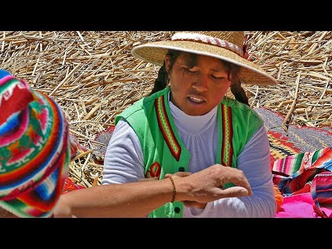THE GIRL FROM FLOATING ISLAND  - TITICACA, PERU