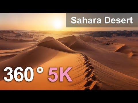 Sahara Desert, Algeria. Aerial 360 Video In 5K