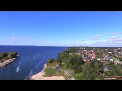 Аэросъемка Сокольское (поселок Нижегородская область 09.2016) Full-hd