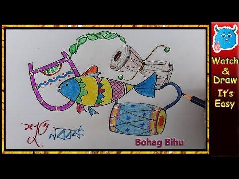 Bengali New Year Pohela Boishakh Drawing Idea For Greeting Card, Poster