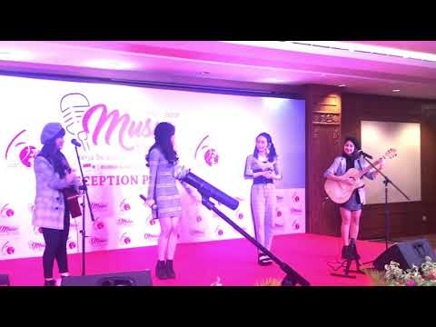 "JKT48 Acoustic  ""Mirai E"", Reception Party Of Indonesia-Japan Music Festival"