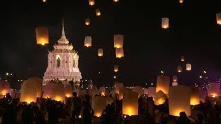 Thousands of lanterns light up Chiang Mai's sky on Thai festival