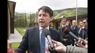 Borbona (Rieti), punto stampa del Presidente Conte
