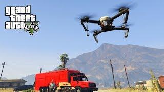 GTA V Freeroam - VLIEGEN MET EIGEN DRONE IN GTA!