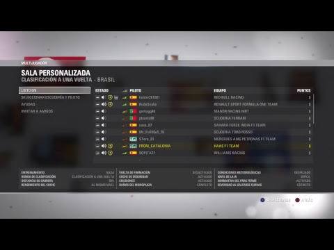 GP F1 de Brasil (Interlagos) Carrera intercontinental Brasil -España