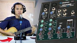REVIEW USB MIXER AUDIO ALCTRON MX4 ADA PHANTOM POWER ~ #NgabuburitLaiqul eps #7