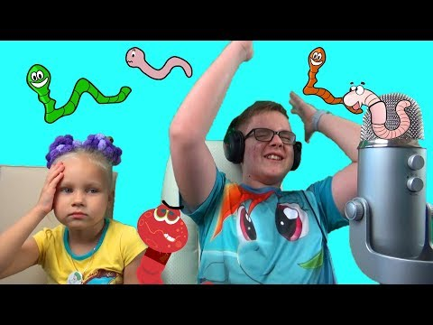 Челлендж Червячки !!! Играю с Алисой в Вормакс ! Прикольное развлечение для детей