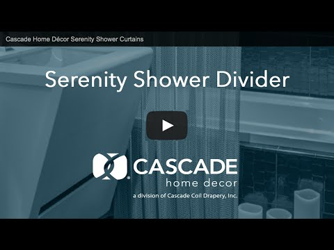Cascade Home Décor Serenity Shower Curtains