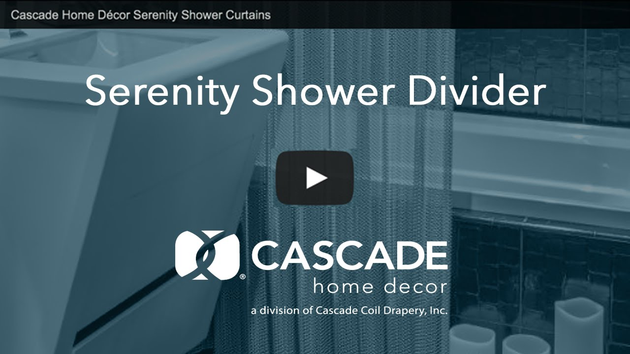 Cascade Home Décor Serenity Shower Curtains - YouTube