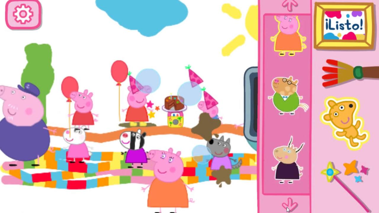 Juego colorear Peppa pig. Juego online pintar a Peppa Español