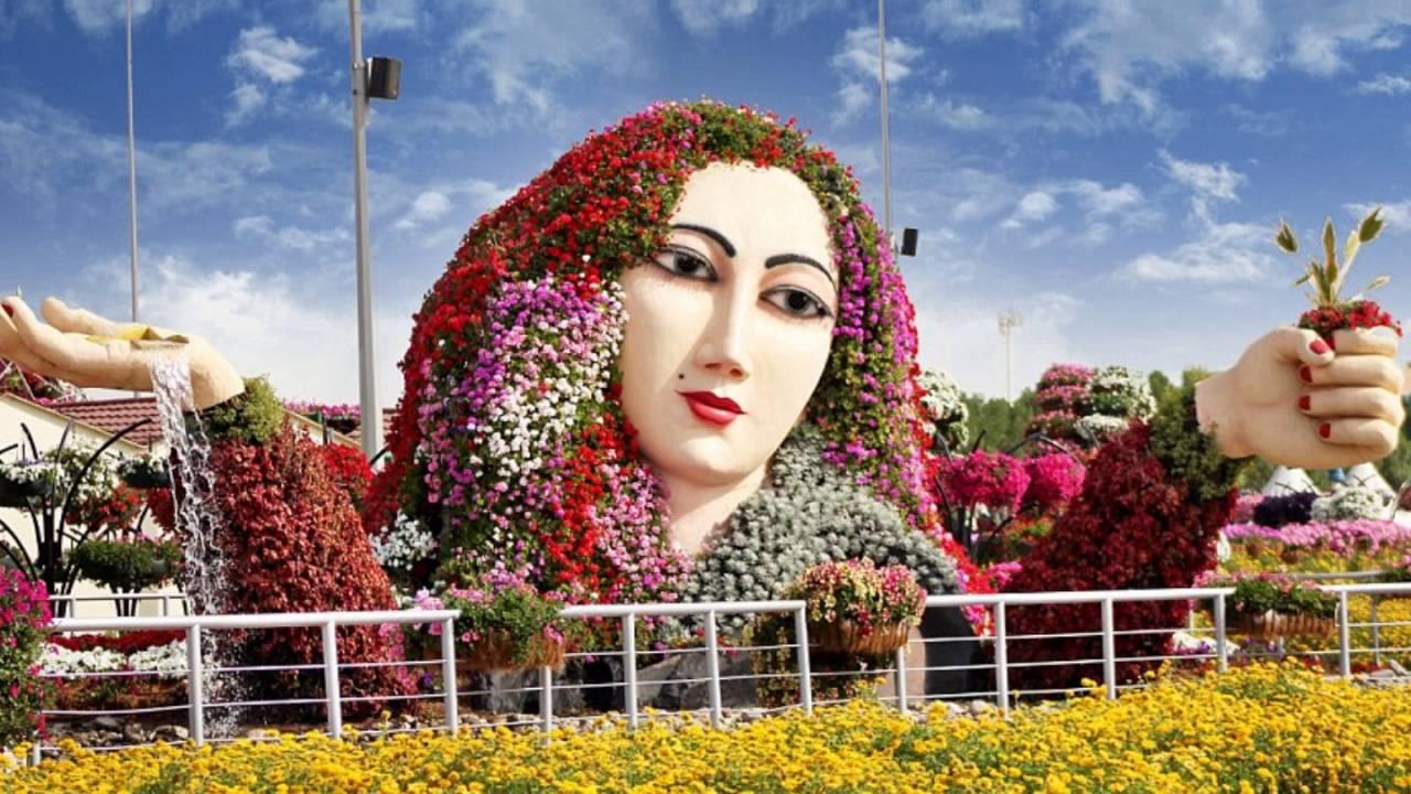 حديقة الزهور المعجزة العين في دبي Youtube