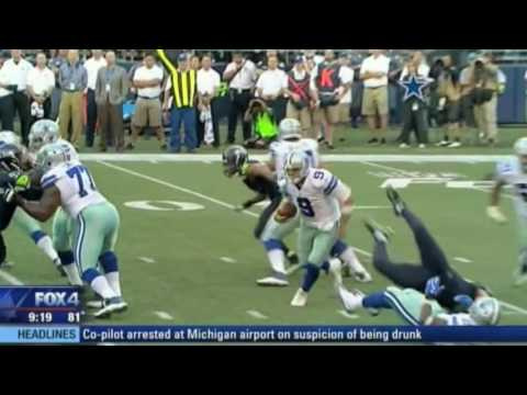 Cowboys Quarterback Tony Romo's fractured back   Dr. John Michels explains live at Fox studios