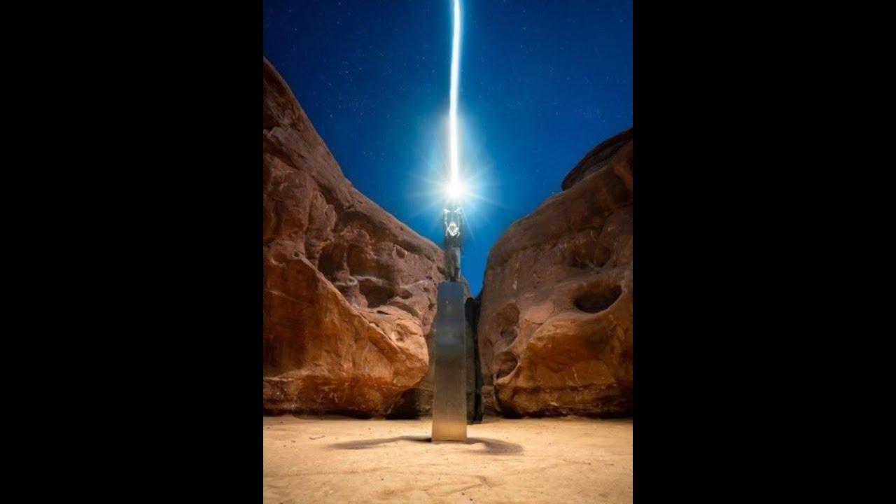 Plaza extraterrestre en el desierto muy cerca de donde aparecio el monolito de Utah