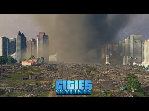 An hour of Cities: Skylines, all DLC's