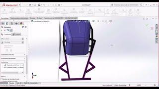 Solidworks tutorials : Erstellen Sie kart N°4/ how to make Stuhl