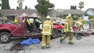 Three Trapped Inside Car After Violent Crash In North Hills