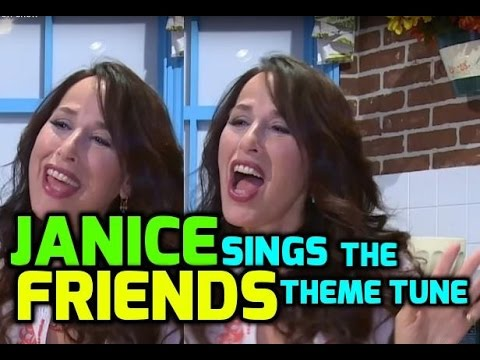 Maggie Wheeler aka Janice sings the Friends theme tune in character
