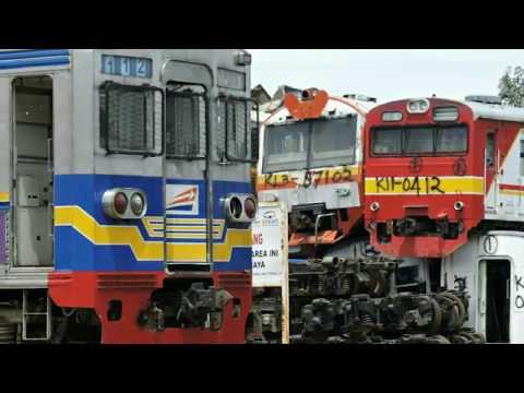 Kondisi bangkai KRL Commuterline jabodetabek