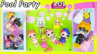 LOL Surprise Dolls Miraculous Ladybug + Eat Fast Food at Petkins Pool Dress Up, Fake Vs Real LQL Toy
