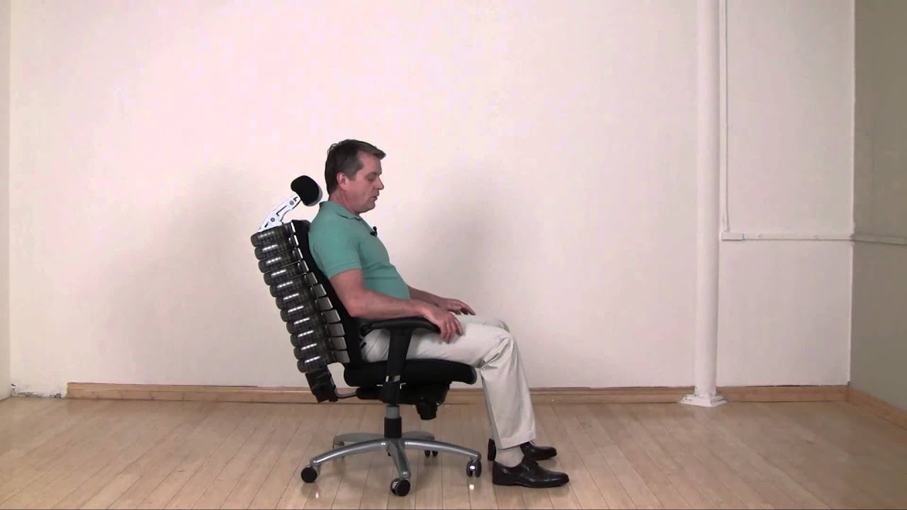 Anthro Ergonomic Verte Chair Office Viking Rfm Executive With Silver Frame Youtube
