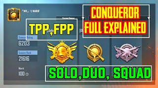 PUBG MOBILE CONQUEROR EXPLAIN | How Many Point are required to reach Conqueror| Solo,Duo,squad