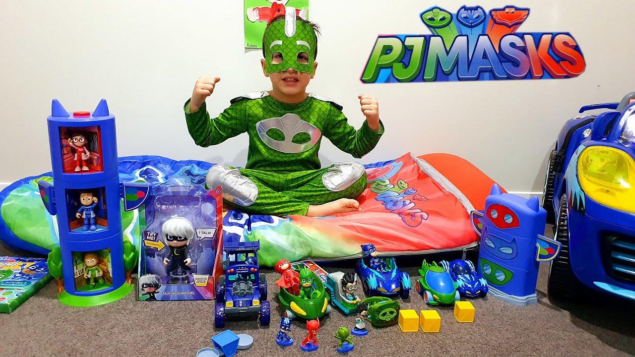 PJ Masks Unboxing: Catboy, Gekko & Owlette, PJ Masks HQ, PJ Masks Super  Learning Watch, Phone Toys