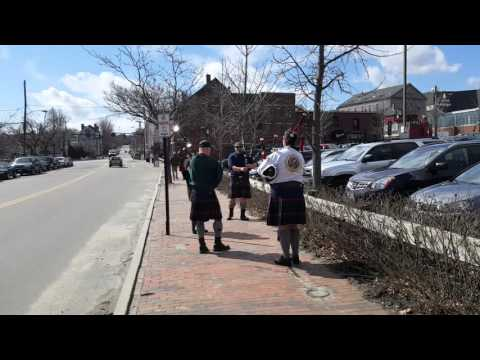 Bagpipes Playing on the Streets of Portland Maine