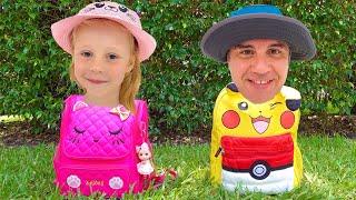 Nastya dan Ayah cerita terbaik untuk anak-anak tentang petualangan dan mainan