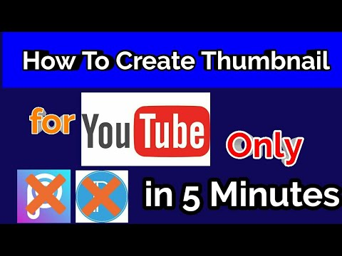 How to Create Thumbnail for Youtube Video|Only in 5 Minutes|Make Good  Thumnails