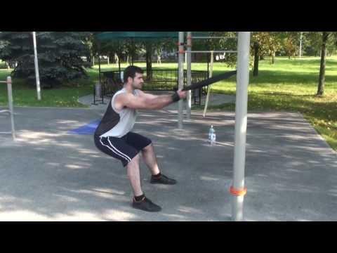 Тренировка с черной (до 78 кг) резиновой петлей R4P (hardest Outdoor Training With Resistance Bands)