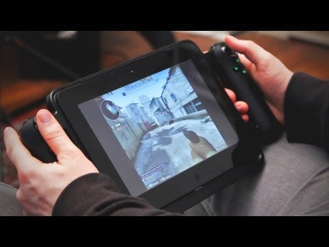 Gamepad Controller for Razer Edge Unboxing & Demo + Razer Edge Docking Station