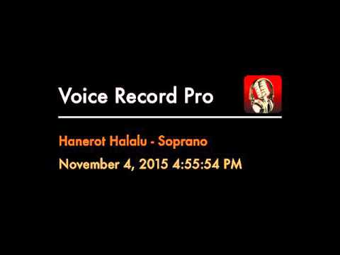Hanerot Halalu - Soprano