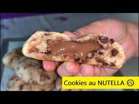 recette:-cookies-au-nutella-🍪🍫-très-délicieux-😋😋