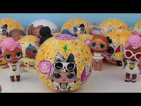 125. LOL Bebek LOL Confetti Pop Challenge  4 Top Birden Eğlenceli Oyuncak Videosu Bidünya Oyuncak