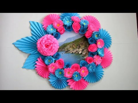 Diy Simple Home Decor Wall Decoration Photo Frame Hanging Flower
