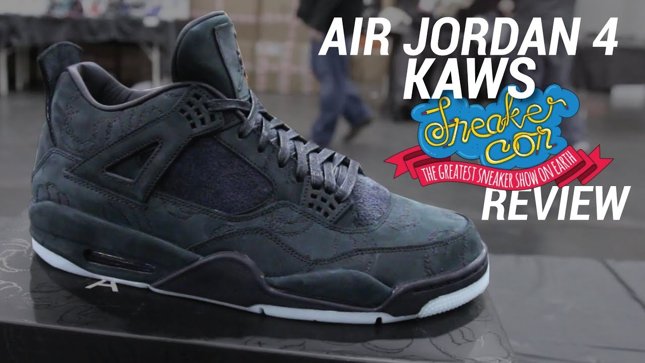 dff2e69b431008 AIR JORDAN 4 KAWS BLACK  SNEAKERCON REVIEW - YouTube