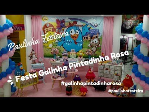 Decoração Festa Infantil Galinha Pintadinha Rosa Youtube
