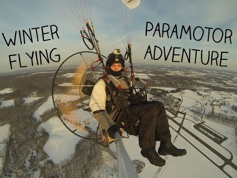 Epic Winter Flying - Paramotor Adventure